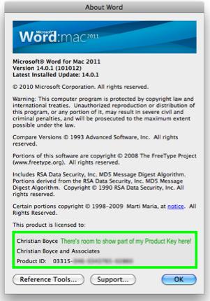microsoft office 2011 mac activation key crack