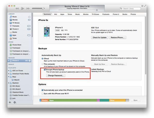 erase iPhone: encrypt_backup