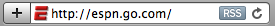 ESPN address bar