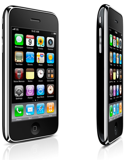 iPhone 3G S front and side views