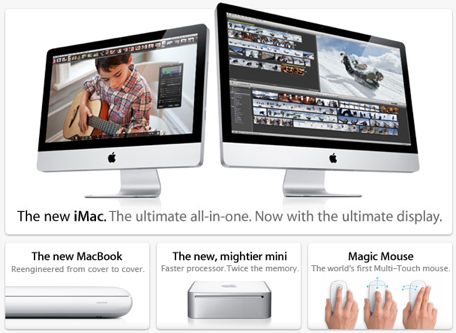 new iMac, new MacBook, new Mini, new Magic Mouse