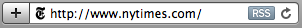 New York Times address bar