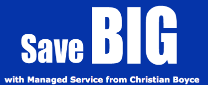 save big with managed service from Christian Boyce
